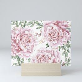 Girly Pastel Pink Roses Garden Mini Art Print