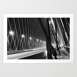 Bugrinsky bridge Art Print