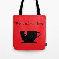 mad Tote Bags featuring Mad by Crystal Granlund
