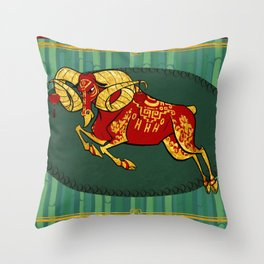Year of the Sheep Throw Pillow