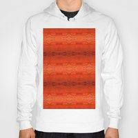 orange pattern Hoodies featuring Orange Aztec Pattern by Corbin Henry