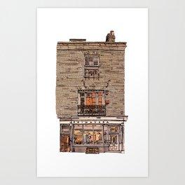 Primavera Gallery, Kings Parade, Cambridge, UK Art Print