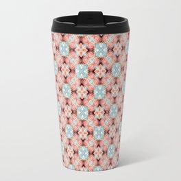 Gorgeous Pastel Pink and Blue Beadwork Inspired Fashion Pattern Travel Mug