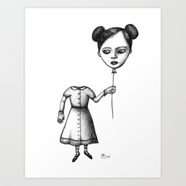 WHERE IS MY MIND? (Balloon Head Girl) Art Print