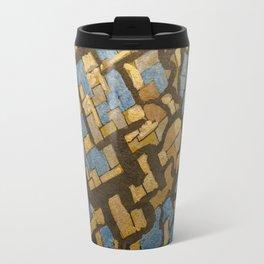 Gold cubic Eiffel tower close up Travel Mug