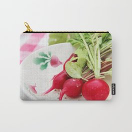 Radishes on a plate Carry-All Pouch