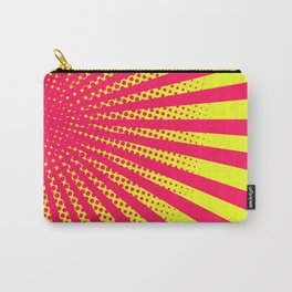 Old School Comic Book Manga Action Panel Neon Starburst Pattern Carry-All Pouch