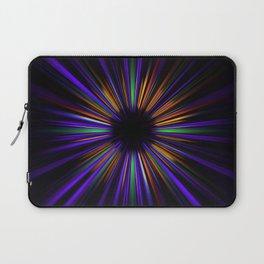 Purple and orange light trails starburst Laptop Sleeve