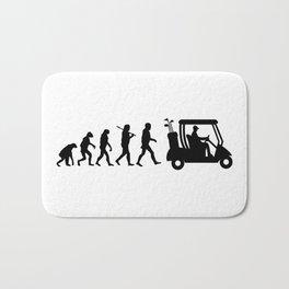 Evolution - golf  black&white Bath Mat