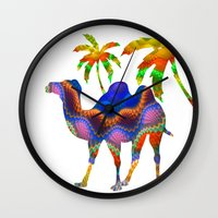 camel Wall Clocks featuring Camel by haroulita