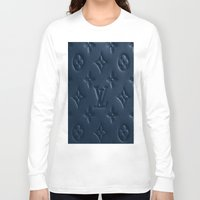lv Long Sleeve T-shirts featuring Blue LV by I Love Decor