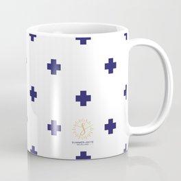 Modern Swiss - Bold Style Cross Plus Sign Coffee Mug