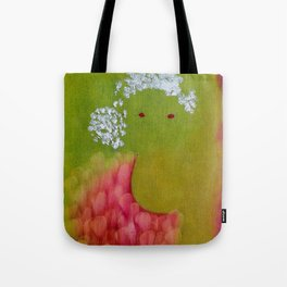 """Lili"" Original oil finger painting by Monika Toth Tote Bag"