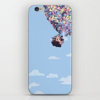 pixar iPhone & iPod Skins featuring disney pixar up.. balloons and sky with house by studiomarshallarts