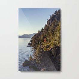 overlooking the lake Metal Print