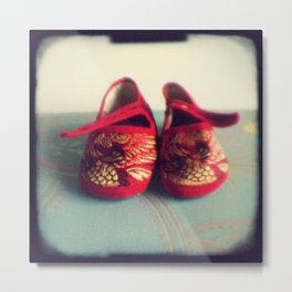 Two red shoes Metal Print