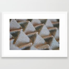 Origami Folds Framed Art Print