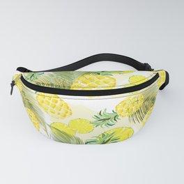Pineapple Watercolor Fresh Summer Fruit Fanny Pack