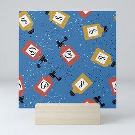Kitschy Salt + Pepper Shakers in Blue Mini Art Print