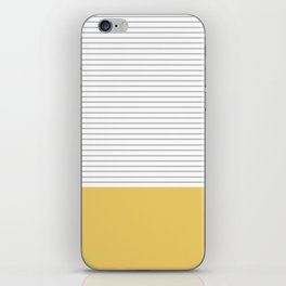 Minimal Gray Stripes - yellow iPhone Skin