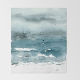 dissolving blues Throw Blanket