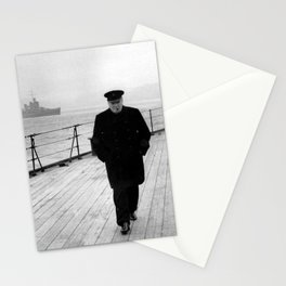 Winston Churchill At Sea Stationery Cards