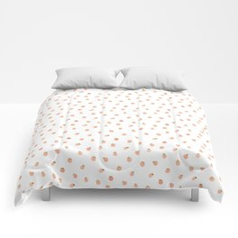 Sweet Peach Polka Dot, White Comforters
