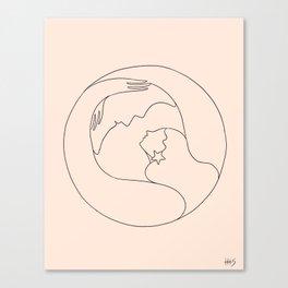 Moon lover Canvas Print