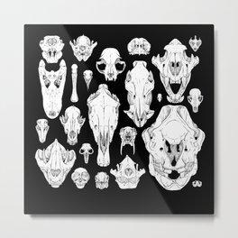 Skull Grid Metal Print