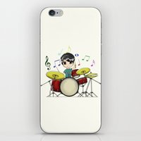 chibi iPhone & iPod Skins featuring Chibi Drummer by Jelo