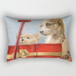 What Santa Left One Year Rectangular Pillow