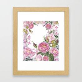 english roses Framed Art Print