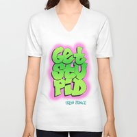 fresh prince V-neck T-shirts featuring Fresh Prince by DeMoose_Art