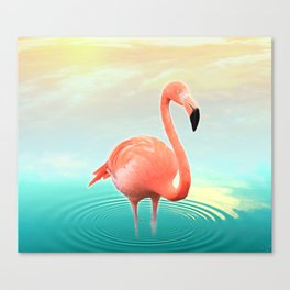 Sunset Flamingo Canvas Print