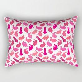 Bunnies Galore in Pink Rectangular Pillow