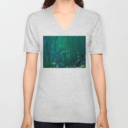 Fairy Tail - Flower on the Water - Magic Grass Unisex V-Neck