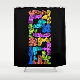 Hard Drop Shower Curtain