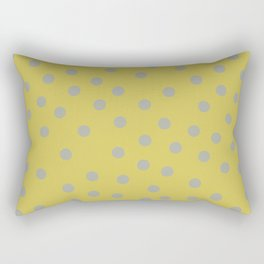 Simply Dots Retro Gray on Mod Yellow Rectangular Pillow