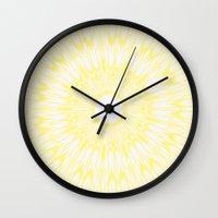 lemon Wall Clocks featuring Lemon by SimplyChic