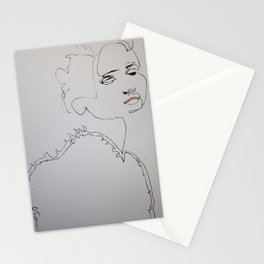 A Girl Who Began As Adriana Lima Stationery Cards