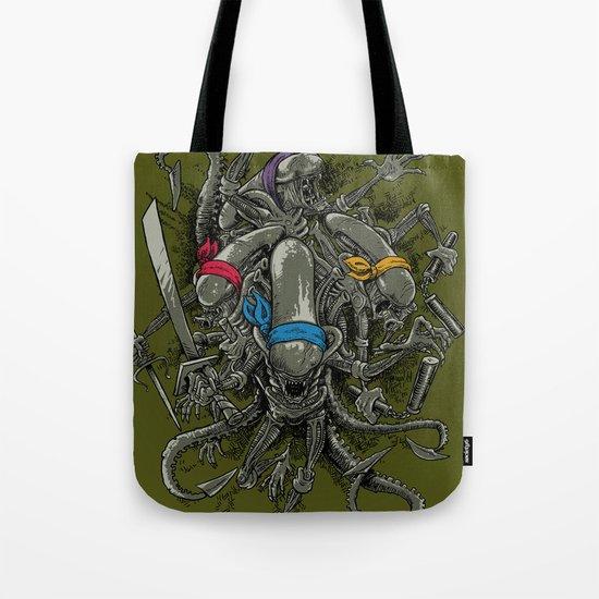 Ancient Ninja Xenomorphs Tote Bag