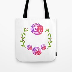 Floral Round Tote Bag
