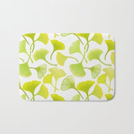 First Day of Autumn Ginkgo Leaves Bath Mat