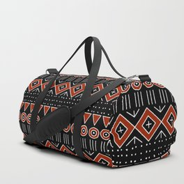 Mudcloth Style 2 in Black and Red Duffle Bag