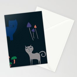 Gatos y hongos Stationery Cards
