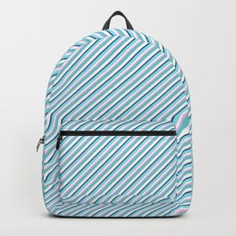 Sky Blue Strong Inclined Stripes Backpack