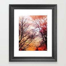 AUTUMN DUSK Framed Art Print