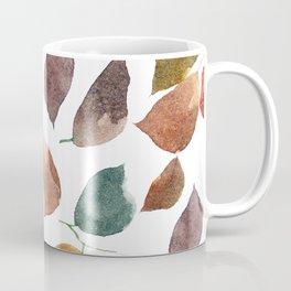 Leaves. Watercolor leaves pattern. Autumn leaves. Coffee Mug
