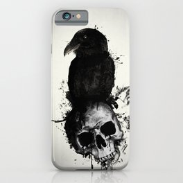Raven and Skull iPhone Case