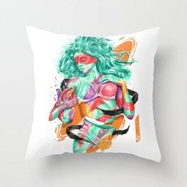 DELPHINA Throw Pillow